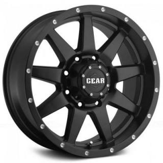 728B OVERDRIVE SATIN BLACK RIM by GEAR ALLOY WHEELS