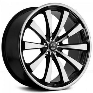 MOTIV WHEELS  407MB MAJESTIC GLOSS BLACK RIM with MACHINED FACE and LIP