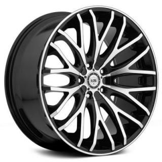 TIS WHEELS  537MB GLOSS BLACK RIM with MACHINED FACE and LIP EDGE