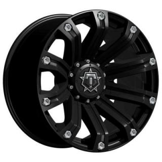 TIS WHEELS  534B SATIN BLACK RIM with CHROME BOLT ACCENTS