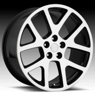 REV WHEELS  OE REPLICA 589 GLOSS BLACK RIM with MACHINED FACE