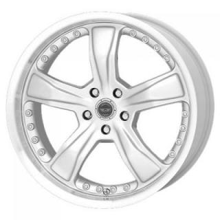 SPECIAL BUY WHEELS  AMERICAN RACING AR198 RAZOR SILVER MACHINED RIM PPT