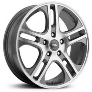 SPECIAL BUY WHEELS  AMERICAN RACING AR887 AXL DARK SILVER RIM with MACHINED FACE PPT