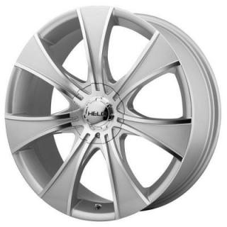 SPECIAL BUY WHEELS  HELO HE874 DARK SILVER RIM with MACHINED FACE PPT