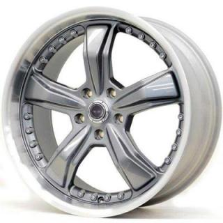 SPECIAL BUY WHEELS  AMERICAN RACING AR198 SHLEBY GUNMETAL MACHINED LIP PPT