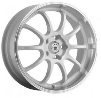 KONIG LIGHTNING WHITE RIM with MACHINED LIP PPT from SPECIAL BUY WHEELS