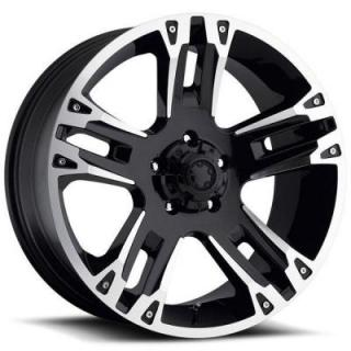 ULTRA MAVERICK 234/235 BLACK RIM with DIAMOND CUT PPT DISPLAY SET 1 SET ONLY from SPECIAL BUY WHEELS