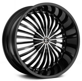 SPECIAL BUY WHEELS  2CRAVE N19 BLACK/MACHINED RIM PPT DISPLAY SET 1 SET ONLY