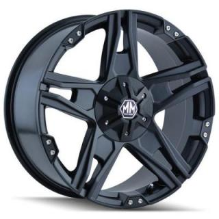 MAYHEM WHEELS  PATRIOT MATTE BLACK RIM