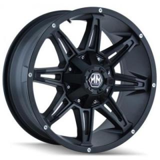 MAYHEM WHEELS  RAMPAGE MATTE BLACK RIM