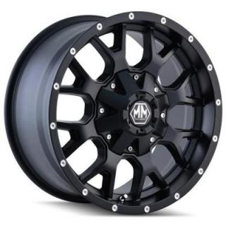 MAYHEM WHEELS  WARRIOR MATTE BLACK RIM