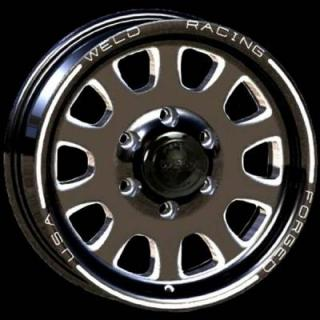 WELD RACING WHEELS  TRAILER R55 BLACK ANODIZED RIM