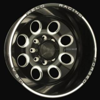 WELD RACING WHEELS  DUALLY D50 BLACK ANODIZED RIM