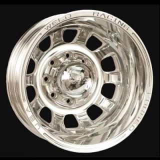 DUALLY D55 POLISHED RIM by WELD RACING WHEELS