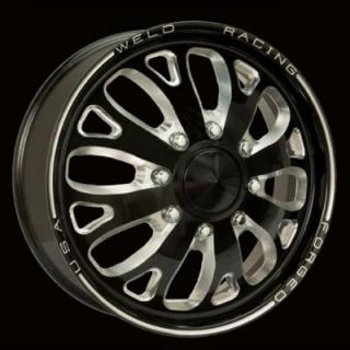 WELD RACING WHEELS  DUALLY D58 BLACK ANODIZED RIM