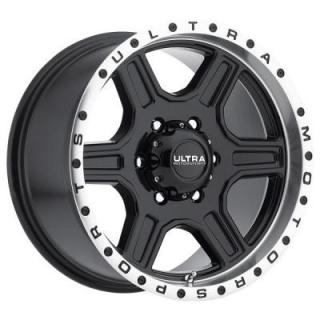 ULTRA WHEELS  VAGABOND 176 GLOSS BLACK RIM with DIAMOND CUT LIP