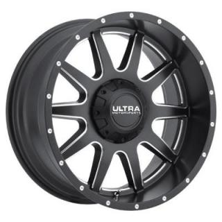 ULTRA WHEELS   TROOPER 189 SATIN BLACK RIM with MILLED ACCENTS