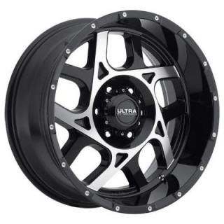 ULTRA WHEELS   COLOSSUS 250 GLOSS BLACK RIM with DIAMOND CUT and SPOT MILLED DIMPLES