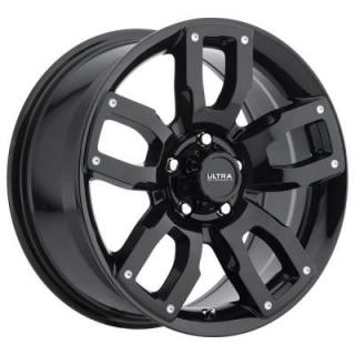 ULTRA WHEELS   DECOY 251 GLOSS BLACK RIM with MILLED DIMPLES
