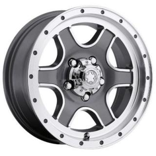 NOMAD TRAILER 174 GRAY RIM with DIAMOND CUT from ULTRA WHEELS