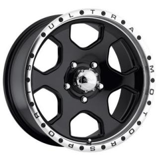 ULTRA WHEELS  ROGUE 175 BLACK RIM with DIAMOND CUT LIP