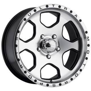 ROGUE 175 BLACK RIM with DIAMOND CUT FACE from ULTRA WHEELS