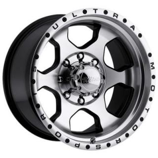 ULTRA WHEELS  ROGUE 175 BLACK RIM with DIAMOND CUT FACE 8 LUG