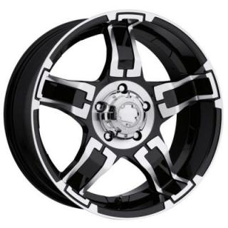 DRIFTER 193/194 BLACK RIM with DIAMOND CUT ACCENTS from ULTRA WHEELS