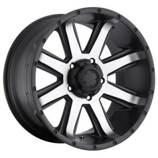 ULTRA WHEELS  CRUSHER 195 BLACK RIM with DIAMOND CUT FACE