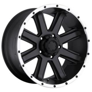 CRUSHER 195 BLACK RIM with DIAMOND CUT LIP from ULTRA WHEELS