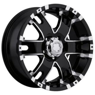 BARON 201/202 BLACK RIM with DIAMOND CUT ACCENTS from ULTRA WHEELS
