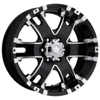 BARON 201/202 BLACK RIM with DIAMOND CUT ACCENTS by ULTRA WHEELS