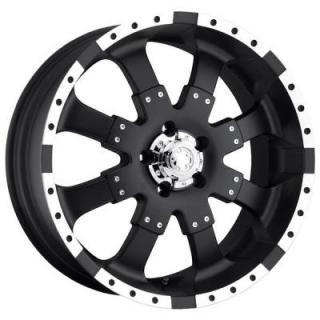ULTRA WHEELS  GOLIATH 223/224 MATTE BLACK RIM with DIAMOND CUT