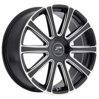 PLATINUM WHEELS  DIVINE 410 GLOSS BLACK RIM with DIAMOND CUT ACCENTS
