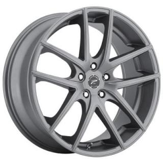 PLATINUM WHEELS  OPULENT SATIN GRAPHITE GREY RIM