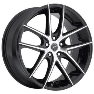 PLATINUM WHEELS  OPULENT GLOSS BLACK RIM with DIAMOND CUT FACE