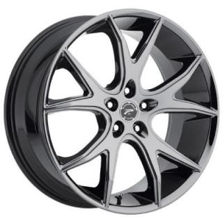 PLATINUM WHEELS  RECLUSE 419 BLACK PVD RIM