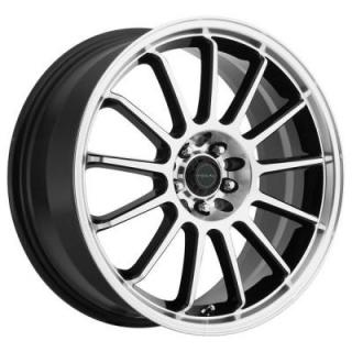 FOCAL WHEELS  F13 446 GLOSS BLACK RIM with DIAMOND CUT FACE