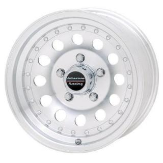 SPECIAL BUY WHEELS  AMERICAN RACING AR62 OUTLAW II MACHINED RIM PPT DISPLAY SET 1 SET ONLY