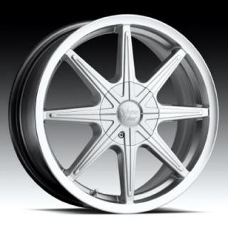 SPECIAL BUY WHEELS  VISION KRYPTONITE 378 FWD HYPER SILVER MACHINED RIM PPT DISPLAY SET 1 SET ONLY
