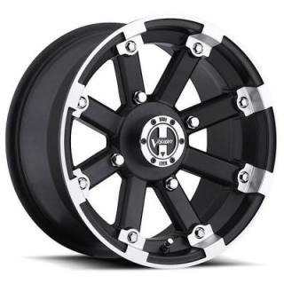 VISION WHEELS  LOCK OUT 393 ATV MATTE BLACK RIM with MACHINED LIP