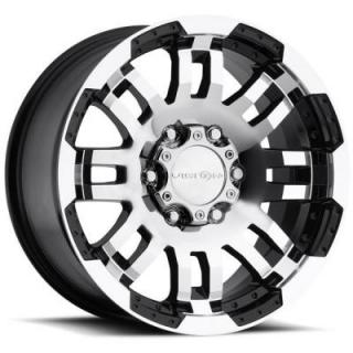 VISION WHEELS - EARLY BLACK FRIDAY SPECIALS!   WARRIOR 375 GLOSS BLACK RIM with MACHINED FACE