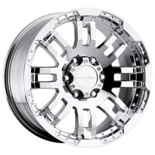 VISION WHEELS  WARRIOR 375 RWD PHANTOM CHROME RIM