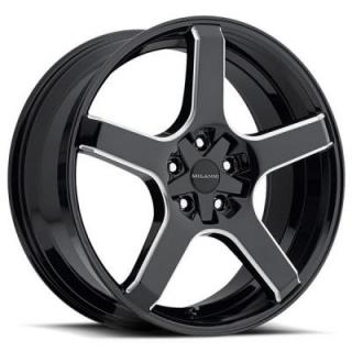 MILANNI WHEELS  VK-1 464 FWD GLOSS BLACK RIM with MILLED SPOKES
