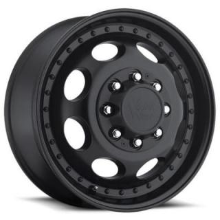 VISION WHEELS  HAULER DUALLY 181 MATTE BLACK FRONT RIM