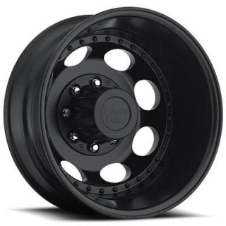 VISION WHEELS  HAULER DUALLY 181 MATTE BLACK REAR RIM