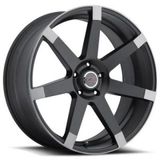 MILANNI WHEELS  SULTAN 9042 MATTE BLACK RIM with ANTHRACITE SPOKE ENDS