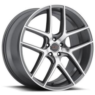 TYCOON 9052 GRAPHITE RIM with MIRROR MACHINED FACE by MILANNI WHEELS