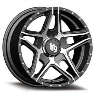 LRG WHEELS  109 PIKE SATIN BLACK RIM with MACHINED FACE