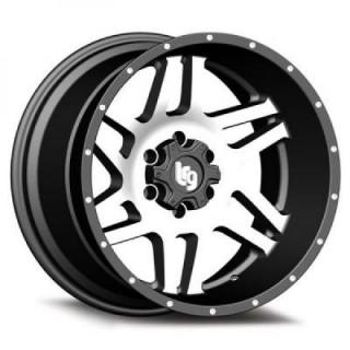111 CLASSICO SATIN BLACK RIM with MACHINED FACE by LRG WHEELS